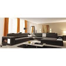 canapé 12 places grand canapé d angle panoramique en cuir gris et blanc achat