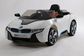 bmw concept i8 licensed bmw i8 concept new design white 12v twin motors kids ride