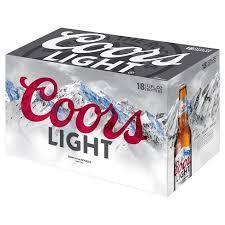 coors light 18 pack coors light beer 18pk 12oz bottles target