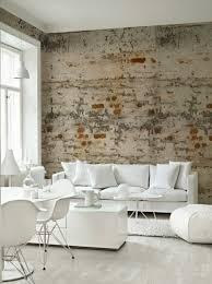 tapete wohnzimmer backstein tapete wohnzimmer modern einrichten wanddeko ideen