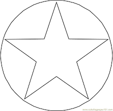 circle star coloring free shapes coloring pages