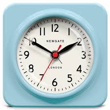 the biscuit alarm clock in blue wall clocks cuckooland