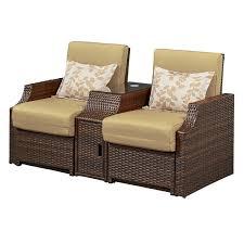 bay isle home burton double reclining chair with cushions