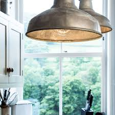 industrial galvanised pendant light by factorylux