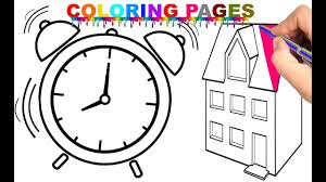 house coloring pages for children coloring book youtube