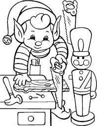 elf pictures color kids coloring