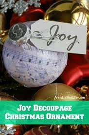 decoupage ornament