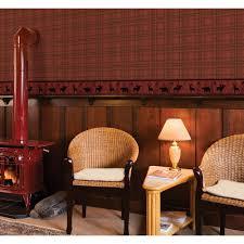 chesapeake fox hollow dark red plaid wallpaper tll01412 the home