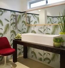 Powder Room Towels - modern pot plants powder room contemporary with green towels red