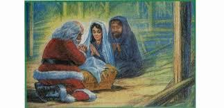 santa and baby jesus picture santa and baby jesus gregfallis