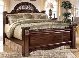 signature bedroom furniture gabriela king size poster bed by signature design tenpenny furniture