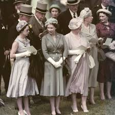 from left princess margaret the queen and the queen mother at