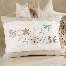 interior design creative beach themed pillows decorative home