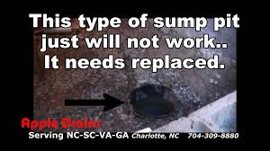 crawl space waterproofing sump pit and pump install youtube