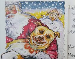 pitbull dog cards etsy