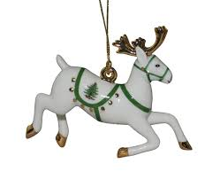 reindeer ornaments spode christmas tree reindeer ornament spode usa