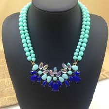 green fashion necklace images Green choker necklace marine style jpg