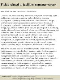 charge resume facilities manager resume 10 don desanti facilities critical