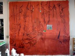 enchanted forest mural suzan marczak applied as a wall covering in the office it was great fun to paint and looks fantastic in situ here is the step by step process of its creation