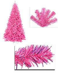 7 pre lit pink artificial sparkling tinsel