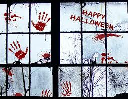 amazon com 56 pcs bloody halloween window clings wall vampire