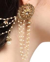 golden earrings buy pleasing golden earrings aprm7087 at 973 72