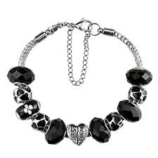 bracelet with charms images Silver plated crystal charm bracelet with charms for jpg