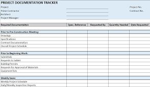 construction project management forms templates project plan