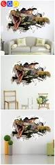 21 best 3d home decoration wall stickers bedroom living room study new 3d diy dinosaur through broken wall fashion removable decorative wall sticker living room sofa backdrop