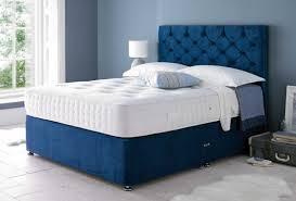Divan Bed Set Savanna Blue Velvet Chesterfield Divan Bed Set