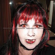 blood red halloween contact lens pair blood red crazy contact