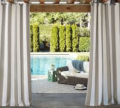 Outdoor Patio Curtains Canada Outdoor Drapes U0026 Hardware Pottery Barn