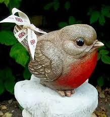 robin ornament home garden statue gift keepsake