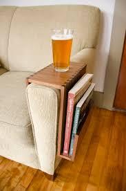 Sofa Arm Table by Custom Sofa Arm Table With Book Pocket Wilbur Davis Studios