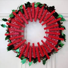how to make a peg christmas wreath red ted art u0027s blog