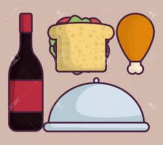 wine bottle platter wine bottle platter and food icon pink background colorful