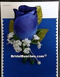 Royal Blue Corsage And Boutonniere Amazon Com Horizon Blue Royal Blue U0026 Silver Corsage U0026 Boutonniere