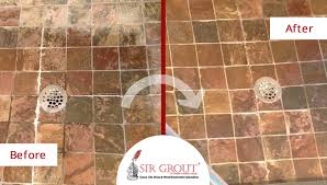 tile cleaning spruces up redding customer s slate shower floor