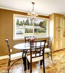 dining room kitchen interior with dining table set and island