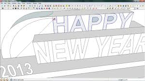 how to make pop up cards draw new year pop up card in sketchup