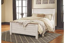 Bed And Bedroom Furniture Willowton Panel Bed Furniture Homestore