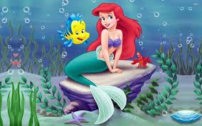 mermaid ariel disney desktop wallpaper disney pixar