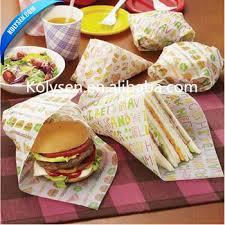 hamburger wrapping paper custom printed food wrapping paper hamburger burger wrapper buy