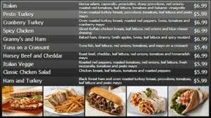 digital menu board 10 items customizable digital signage template