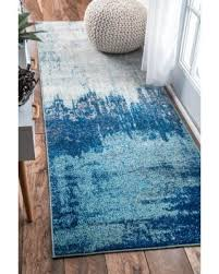 rug runners contemporary find the best deals on nuloom contemporary abstract blue runner