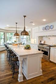 recycled countertops kitchen island with columns lighting flooring