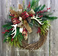 christmas wreaths beautiful christmas wreath with rustic look for your rustic