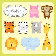 animal baby clipart jungle clipart collection baby safari