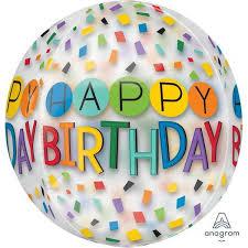 happy birthday balloon anagram 16 inch orbz clear rainbow happy birthday balloon from