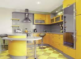 cuisine jaune et grise deco cuisine gris jaune idée de modèle de cuisine